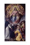 Madonna of the Rosary (Madonna Del Rosario) Giclee Print by Bartolomeo Passerotti
