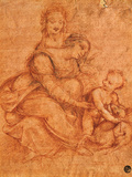 Madonna and Child with St Anne Giclee Print by Cesare da Sesto