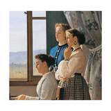 The Folk Song Reproduction procédé giclée par Silvestro Lega