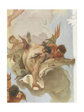 The Archangel Michael Casts Out the Rebellious Angels from Paradise Giclee Print by Giambattista Tiepolo