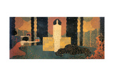 The Queen of Sheba Enthroned (La Regina Di Saba in Trono) Giclee Print by Vittorio Zecchin