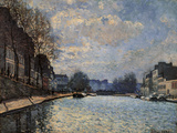 View of the Canal Saint Martin Giclee Print by Alfred Sisley