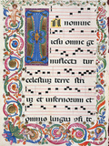 Proprio Dei Santi Gradual From the Feast of the Holy Name of Jesus Giclée-tryk