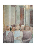 Stories of St Peter Martyr Miracle of the Cloud Giclee Print by Vincenzo Foppa