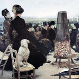 The Races in the Bois De Boulogne. by the Stove (Le Corse Al Bois De Boulogne. Accanto Alla Stufa) Giclee Print by Giuseppe De Nittis