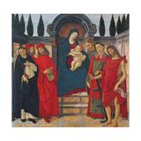 Madonna with Saints (Altarpiece of Trebbio) Giclee Print by Sandro Botticelli