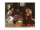 Annunciation Giclée-tryk af Ludovico Carracci