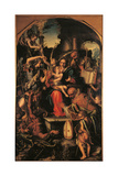 Holy Family with St Michael the Archangel and the Devil Contending for Souls Giclee Print by Giorgio Gandini del Grano