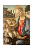 Madonna and Child and Two Angels Giclee Print by Sandro Botticelli