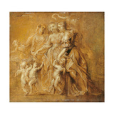 Three Women with Putti in an Open Space Giclee Print by Pieter Paul Rubens