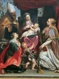 Madonna with Child and Young St John Giclee Print