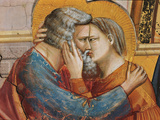 Stories of St Joachim and St Anne the Meeting at the Golden Gate Giclee Print by  Giotto di Bondone
