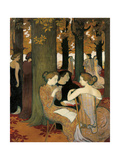 The Muses (Or Sacred Wood) Giclee Print by Maurice Denis