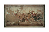 Alexander Mosaic Or the Battle of Issus Giclee Print by Alexandrian workers