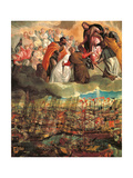 Allegory of the Battle of Lepanto Giclée-tryk af Veronese
