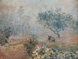 The Fog, Voisins Giclee Print by Alfred Sisley