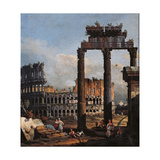 Capriccio with the Coliseum Giclee Print by Bernardo Bellotto