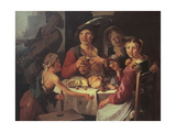 Luncheon of Peasants with Young Beggar Giclee Print by  Todeschini