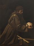 St Francis in Meditation Giclée-tryk af  Caravaggio