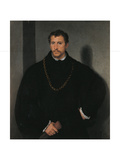 The Young Englishman Giclée-tryk af  Titian (Tiziano Vecelli)