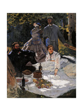 Breakfast on the Grass (Le Déjeuner Sur L'herbe) Giclee Print by Claude Monet