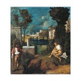 The Tempest Giclee Print by Giorgione da Castelfranco