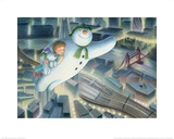 The Snowman and the Snowdog (Over London) Prints