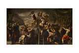 Moses Orders the Calf of Gold Destroyed Giclee Print by Andrea Celesti