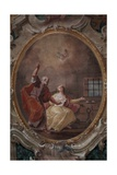 Visit of St. Peter to St. Agatha in Prison Giclee Print by Francesco Fontebasso