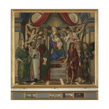 Virgin and Child with Saint Catherine of Alexandria Giclee Print by  Augustine