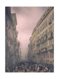 Carnival in Milan (Carnevale a Milano) Giclee Print by Carlo Bossoli