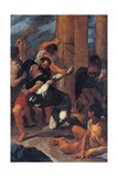 Altarpiece of St Omobono (Virgin in Glory and Saints) Giclée-tryk af Ludovico Carracci