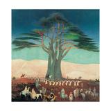 Pilgrimage To the Cedars of Lebanon Lámina giclée por Kosztka Tivadar Csontváry