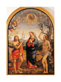 The Virgin with Sts Sebastian and John the Baptist Giclée-Druck von Timoteo Viti