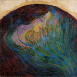 Woman's Head Giclee Print by Boccioni Umberto