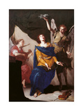 The Ecstasy of St. Cecilia Giclee Print by Bernardo Cavallino