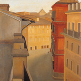 Via Del Lavatore Giclee Print by Antonio Donghi