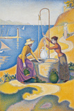 Women at the Well Gicléetryck av Paul Signac