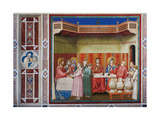 Stories of Christ the Wedding at Cana Or the Marriage Feast at Cana Giclee Print by  Giotto di Bondone