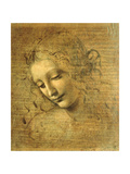 Head of a Young Woman La Scapigliata (the Lady of the Disheveled Hair) Giclee Print by Leonardo da Vinci Unknown Artist