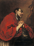 St Charles Borromeo in Prayer Giclee Print by Giuseppe Antonio Pianca