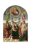 Madonna and Child Enthroned with St John Baptist Giclee Print by  St Francis