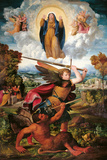 The Archangel Michael and the Devil Giclee Print by Giovanni Dosso Dossi