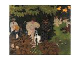 Twilight the Game of Croquet Giclée-trykk av Pierre Bonnard