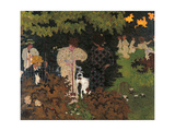 Twilight the Game of Croquet Gicleetryck av Pierre Bonnard