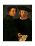 Portrait of Two Friends Giclée-tryk af Jacopo Pontormo
