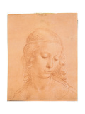Head of a Young Woman Giclee Print by apprentice of Leonardo da Vinci