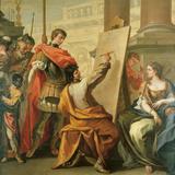 Apelles Making a Portrait of Pancaspe Giclée-tryk af Sebastiano Ricci