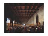 The Sala Silk Factory at Castello Di Lecco Giclee Print by Giovanni Migliara