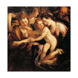 The Mystic Marriage of St Catherine Giclee Print by Giulio Cesare Procaccini